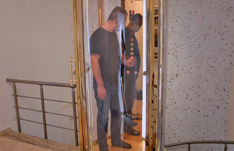 oval ev asansörü